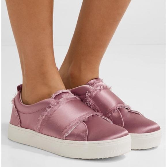 1a5c677b5e18   FLASH SALE   Levine Fringe slides sneakers satin